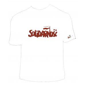 Koszulka bawełniana biała Solidarność L