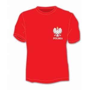 Koszulka bawełniana z małym godłem RP XL